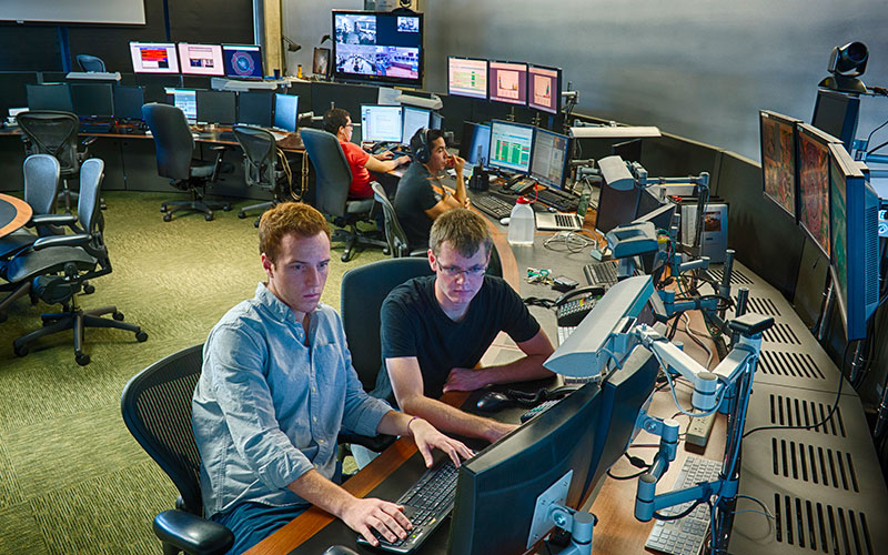 Students from Caltech working at Fermilab
