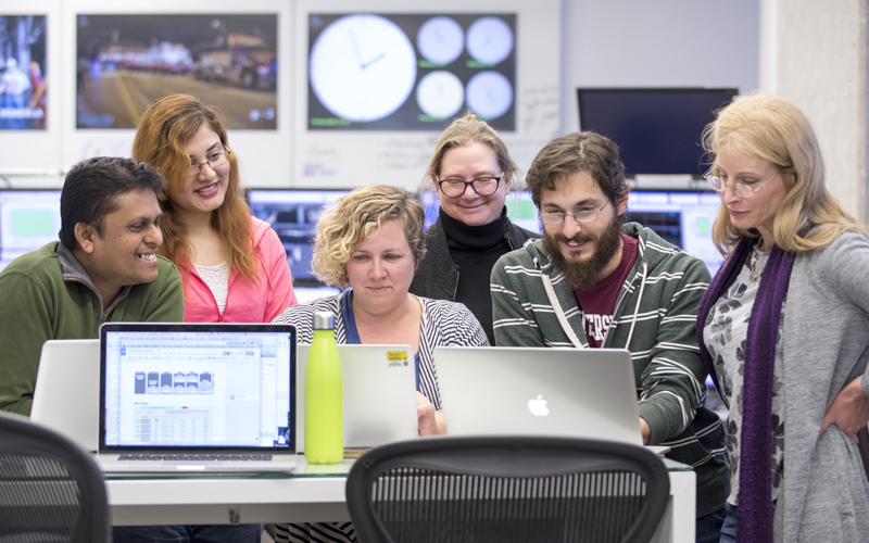 Scientists gather in the Remote Operations Center West